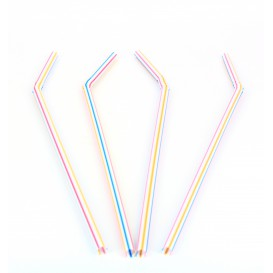 Plastic rietje flexibel PS Ø0,5cm 23cm (1000 stuks)