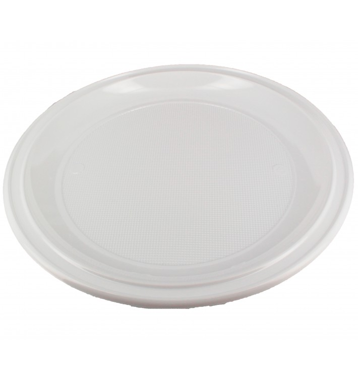 Plastic bord PS voor Pizza wit 28 cm (100 stuks)