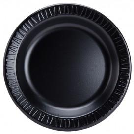 """Schuim bord """"Quiet Classic"""" gelamineerd zwart 26 cm (125 stuks)"""