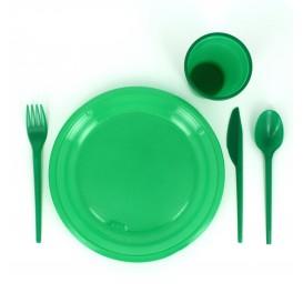 Plastic PS mes groen 16,5 cm (900 stuks)