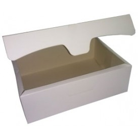 Gebakdoos karton Witte 500g wit 18,2x13,6x5,2cm (250 stuks)