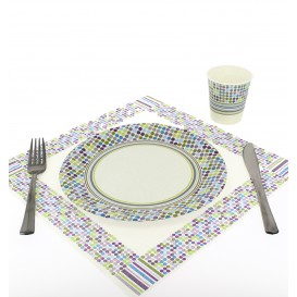 "Papieren bord ""Raenas en Topos"" Design 23cm (504 stuks)"