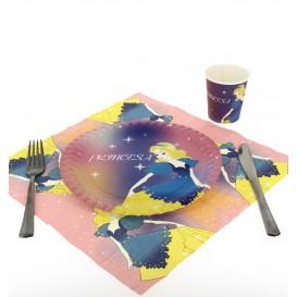 Papieren bord Princess Design 23cm (504 stuks)