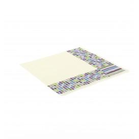 Papieren servet Strepen en mollen Design 33x33cm (20 stuks)