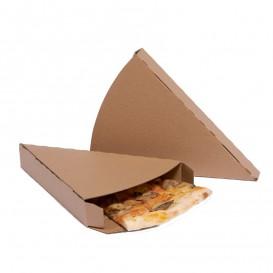 Gegolfde Pizza stuk doosje kraft Takeaway (25 stuks)