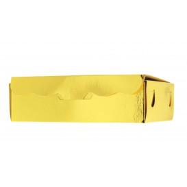 Papier bakkerij doos goud 11x6,5x2,5cm 100g (1000 stuks)