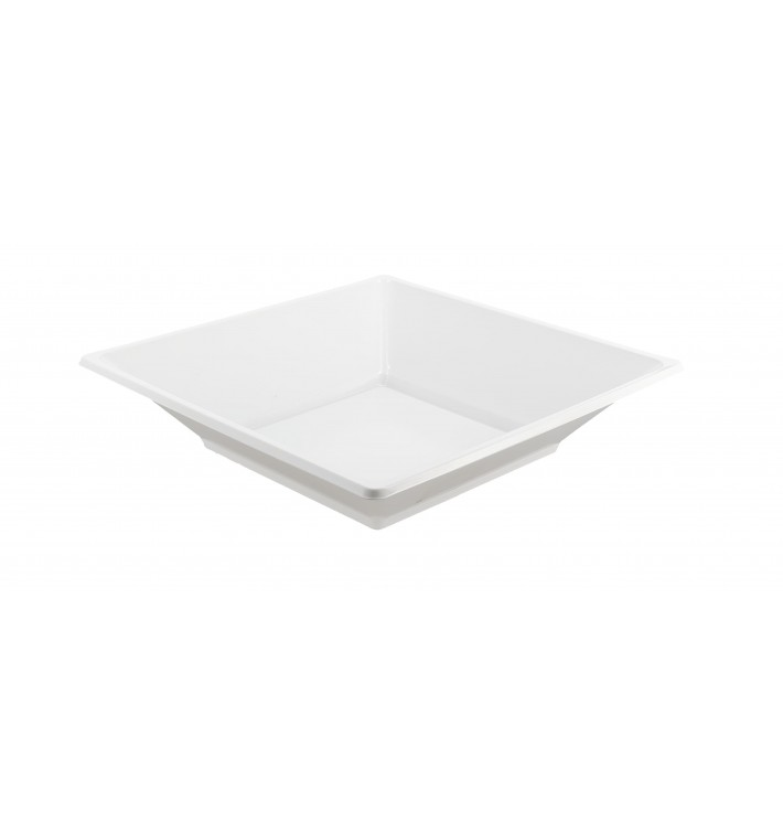 Plastic bord PS Diep Vierkant wit 17 cm (750 stuks)