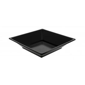 Plastic bord Diep Vierkant zwart 17 cm (360 stuks)