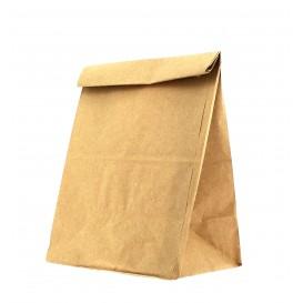 Papieren zak zonder handvat kraft bruin 15+9x28cm (25 stuks)