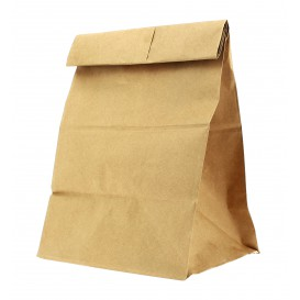 Papieren zak zonder handvat kraft 25+15x43cm (25 stuks)