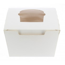 Papieren Cake vorm zak 1 Slot wit 11x10x7,5cm (20 stuks)