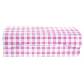 Papier bakkerij doos roze 20,4x15,8x6cm 1kg (200 stuks)