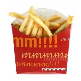 Papieren Container voor frietenmedium maat 8,2x3,5x12,5cm (25 stuks)