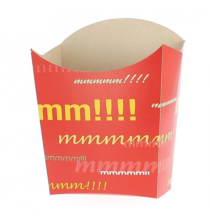 Papieren Container voor frietenklein maat 8,2x2,2x9cm (600 stuks)