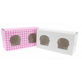 Papieren Cake vorm zak 2 Slot roze 19,5x10x7,5cm (20 stuks)