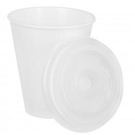 Schuim beker EPS 7Oz/200ml wit + Plastic Deksel (1.000 stuks)