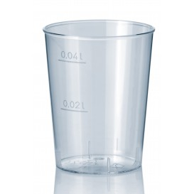 Plastic PS Shotje Geïnjecteerde glascider transparant 40 ml (2000 stuks)
