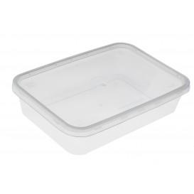 Plastic deli Container PP Rechthoekige vorm 500 ml (500 stuks)