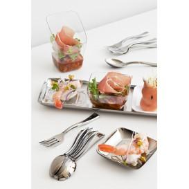 Plastic vork gemetalliseerd 19cm (500 stuks)