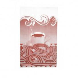 Papieren voedsel zak voor Churros Vetvrij 30+10x42cm (250 stuks)