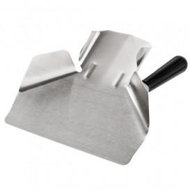 Frietenschep van staal 1 Hendel Roestvrij zilver 20x22,5x5 cm (1 stuk)