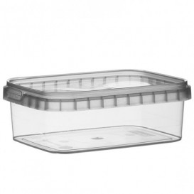 Plastic deli Container en Plastic Deksel PP Onbreekbaar 280ml 12,0x0,88cm (24 stuks)