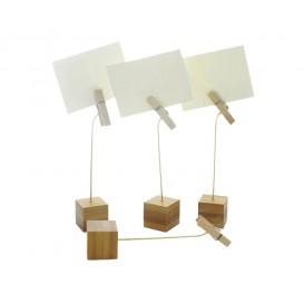 Bamboe kaart houder 13cm (12 stuks)