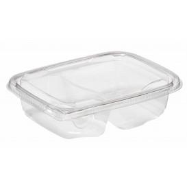 Plastic deli Container PET onverbrekelijk 2C 200/300ml 18x14x4cm (390 stuks)