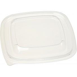Plastic PET Deksel voor Plastic Kom 125x125mm (50 stuks)