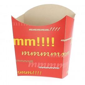 Papieren Container voor frietenmedium maat 8,2x3,5x12,5cm (500 stuks)