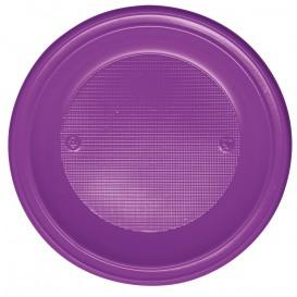 Plastic bord PS Diep paars Ø22 cm (30 stuks)