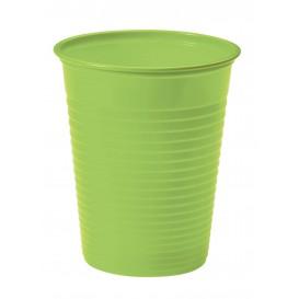 Plastic PS beker limoengroen 200ml Ø7cm (50 stuks)