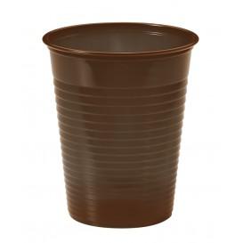 Plastic PS beker chocolade 200ml Ø7cm (50 stuks)