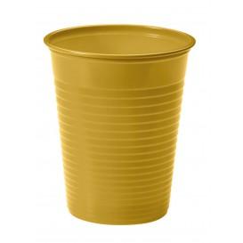 Plastic PS beker goud 200ml Ø7cm (50 stuks)