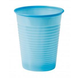 Plastic PS beker lichtblauw 200ml Ø7cm (50 stuks)