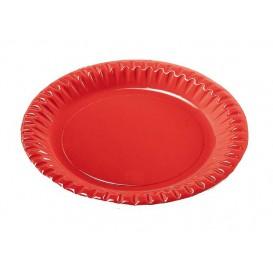 "Papieren bord Rond vormig ""Party"" rood 18cm (10 stuks)"