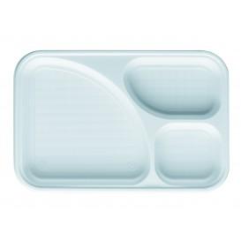 Plastic Compartment dienblad wit 3C 31,5x21cm (100 stuks)