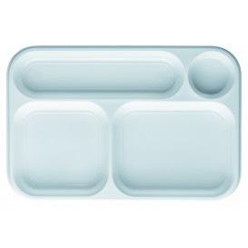 Plastic Compartment dienblad wit 4C 36x24cm (300 stuks)