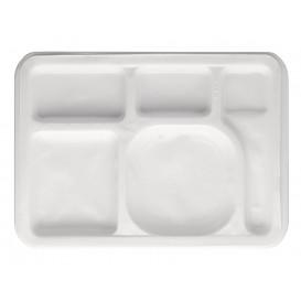 Plastic Compartment dienblad wit 47x35cm (1000 stuks)