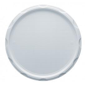 Plastic bord PS voor Pizza wit 32 cm (100 stuks)