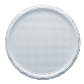Plastic bord PS voor Pizza wit 32 cm (500 stuks)