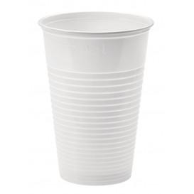 Plastic PP beker wit 230ml Ø7,0cm (3000 stuks)
