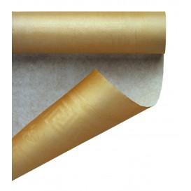 Papieren tafelkleed rol goud 1,2x7m (1 stuk)