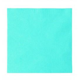 Papieren servet 2 laags lichtblauw 33x33cm (50 stuks)