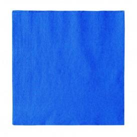 Papieren servet 2 laags donkerblauw 33x33cm (1200 stuks)