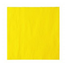 Papieren servet 2 laags geel 33x33cm (1200 stuks)