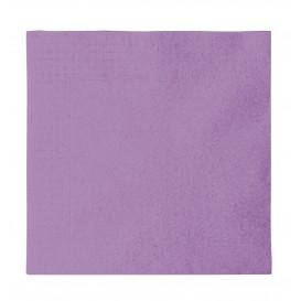 Papieren servet 2 laags lila 33x33cm (50 stuks)