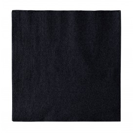 Papieren servet 2 laags zwart 33x33cm (1200 stuks)