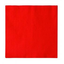 Papieren servet 2 laags rood 33x33cm (50 stuks)