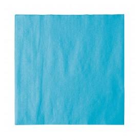 Papieren servet 2 laags turkoois 33x33cm (50 stuks)
